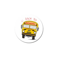 Back To School   School Bus Golf Ball Marker (4 Pack) by Valentinaart