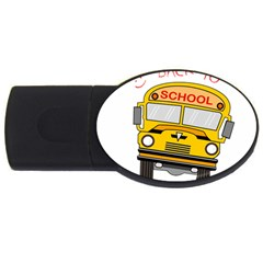 Back To School   School Bus Usb Flash Drive Oval (4 Gb) by Valentinaart