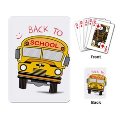 Back To School   School Bus Playing Card by Valentinaart