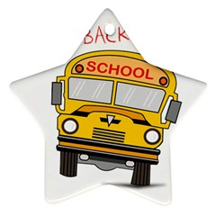 Back To School   School Bus Star Ornament (two Sides) by Valentinaart