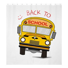 Back To School   School Bus Shower Curtain 66  X 72  (large)  by Valentinaart