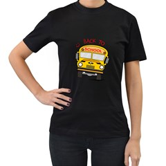 Back To School   School Bus Women s T Shirt (black) by Valentinaart
