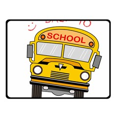 Back To School   School Bus Fleece Blanket (small) by Valentinaart