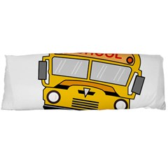 Back To School   School Bus Body Pillow Case Dakimakura (two Sides) by Valentinaart