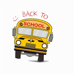 Back To School   School Bus Large Garden Flag (two Sides)