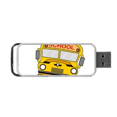 Back To School   School Bus Portable Usb Flash (one Side) by Valentinaart