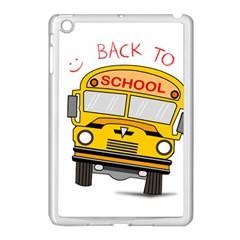 Back To School   School Bus Apple Ipad Mini Case (white) by Valentinaart