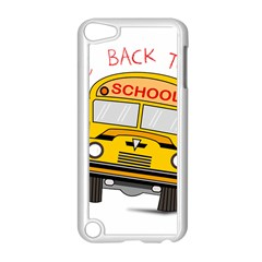Back To School   School Bus Apple Ipod Touch 5 Case (white) by Valentinaart