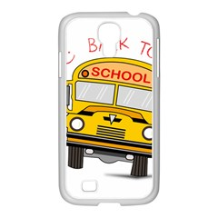 Back To School   School Bus Samsung Galaxy S4 I9500/ I9505 Case (white) by Valentinaart