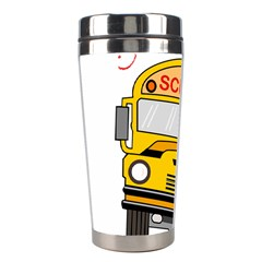 Back To School   School Bus Stainless Steel Travel Tumblers by Valentinaart
