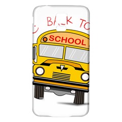Back To School   School Bus Samsung Galaxy S5 Back Case (white)