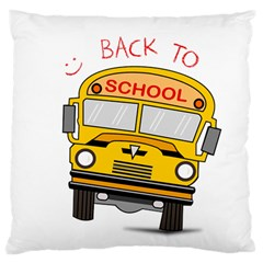 Back To School   School Bus Standard Flano Cushion Case (one Side) by Valentinaart