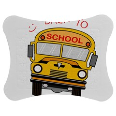 Back To School   School Bus Jigsaw Puzzle Photo Stand (bow) by Valentinaart