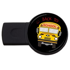 Back To School   School Bus Usb Flash Drive Round (2 Gb) by Valentinaart