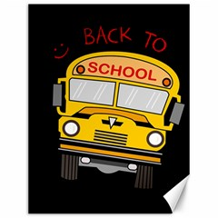 Back To School   School Bus Canvas 12  X 16   by Valentinaart