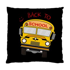 Back To School   School Bus Standard Cushion Case (two Sides) by Valentinaart
