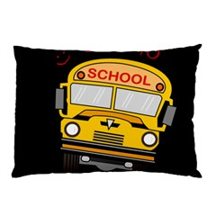 Back To School   School Bus Pillow Case (two Sides) by Valentinaart