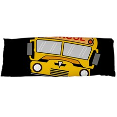 Back To School   School Bus Body Pillow Case (dakimakura) by Valentinaart