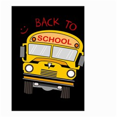 Back To School   School Bus Small Garden Flag (two Sides)