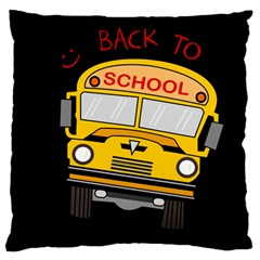 Back To School   School Bus Large Cushion Case (two Sides) by Valentinaart