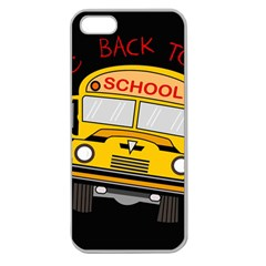 Back To School   School Bus Apple Seamless Iphone 5 Case (clear) by Valentinaart