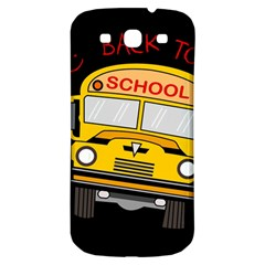 Back To School   School Bus Samsung Galaxy S3 S Iii Classic Hardshell Back Case by Valentinaart