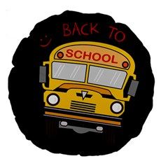 Back To School   School Bus Large 18  Premium Round Cushions by Valentinaart