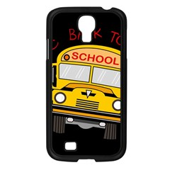 Back To School   School Bus Samsung Galaxy S4 I9500/ I9505 Case (black) by Valentinaart