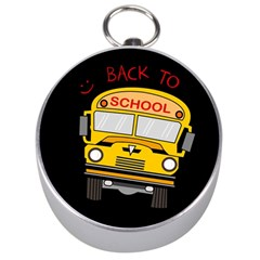 Back To School   School Bus Silver Compasses