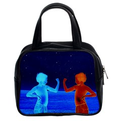 Space Boys  Classic Handbags (2 Sides) by Valentinaart