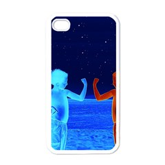 Space Boys  Apple Iphone 4 Case (white) by Valentinaart