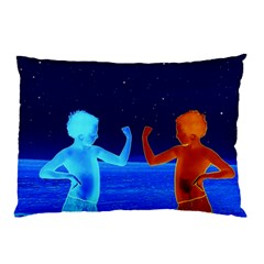 Space Boys  Pillow Case (two Sides) by Valentinaart