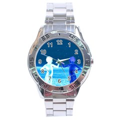 Space Boys  Stainless Steel Analogue Watch