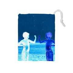 Space Boys  Drawstring Pouches (medium)  by Valentinaart