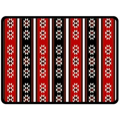 Folklore Pattern Double Sided Fleece Blanket (large)