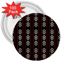 Folklore Pattern 3  Buttons (100 Pack)  by Valentinaart