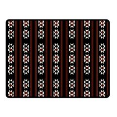 Folklore Pattern Double Sided Fleece Blanket (small)
