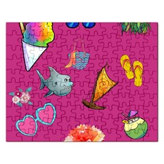 Aloha   Summer Fun 1 Rectangular Jigsaw Puzzl by MoreColorsinLife