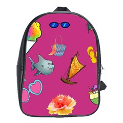 Aloha   Summer Fun 1 School Bag (large) by MoreColorsinLife