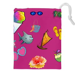 Aloha   Summer Fun 1 Drawstring Pouches (xxl) by MoreColorsinLife