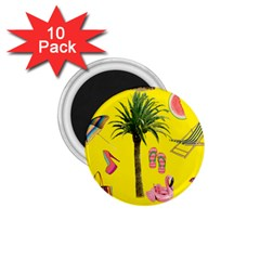Aloha   Summer Fun 2 1 75  Magnets (10 Pack)  by MoreColorsinLife