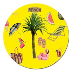 Aloha   Summer Fun 2 Magnet 5  (round) by MoreColorsinLife