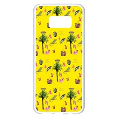 Aloha   Summer Fun 2b Samsung Galaxy S8 Plus White Seamless Case by MoreColorsinLife