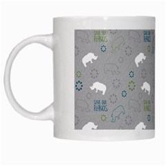 Shave Our Rhinos Animals Monster White Mugs by Mariart