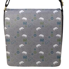 Shave Our Rhinos Animals Monster Flap Messenger Bag (s)