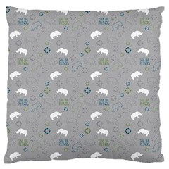 Shave Our Rhinos Animals Monster Standard Flano Cushion Case (two Sides) by Mariart