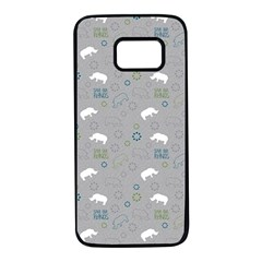 Shave Our Rhinos Animals Monster Samsung Galaxy S7 Black Seamless Case by Mariart