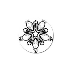 Star Sunflower Flower Floral Black Golf Ball Marker (4 Pack) by Mariart