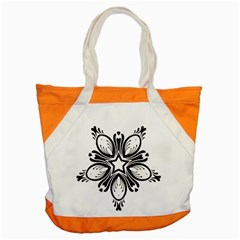 Star Sunflower Flower Floral Black Accent Tote Bag by Mariart
