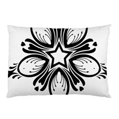 Star Sunflower Flower Floral Black Pillow Case (two Sides) by Mariart